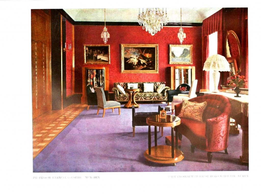 Design - Interior - Living room, purple and red