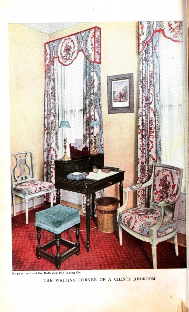 Design - Interior - Writing corner in a chintz bedroom
