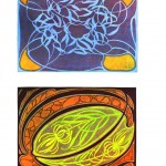 Design - Paper - Art nouveau abstract - (2)