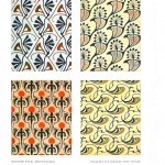 Design - Paper - Decorative design, nouveau panels 3