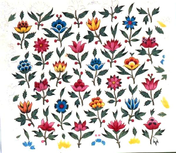 Design - Paper - Flowered pattern