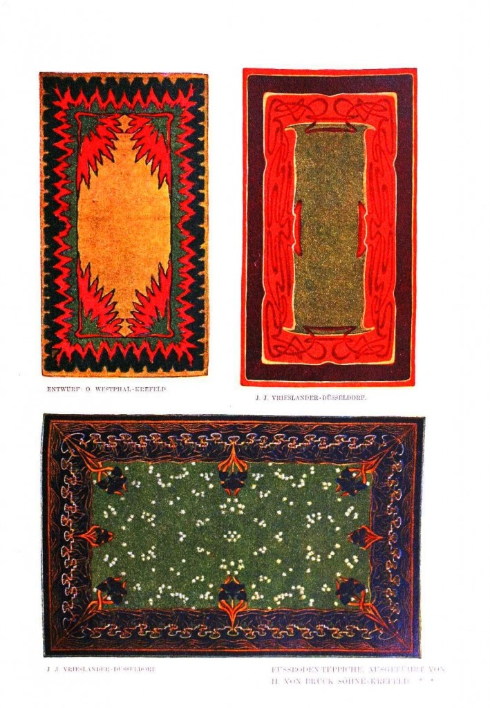 Design - Textile - Carpet - Art nouveau