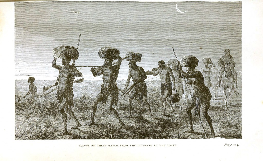 Geopolitical - Africa - Slaves on march from interior the coast