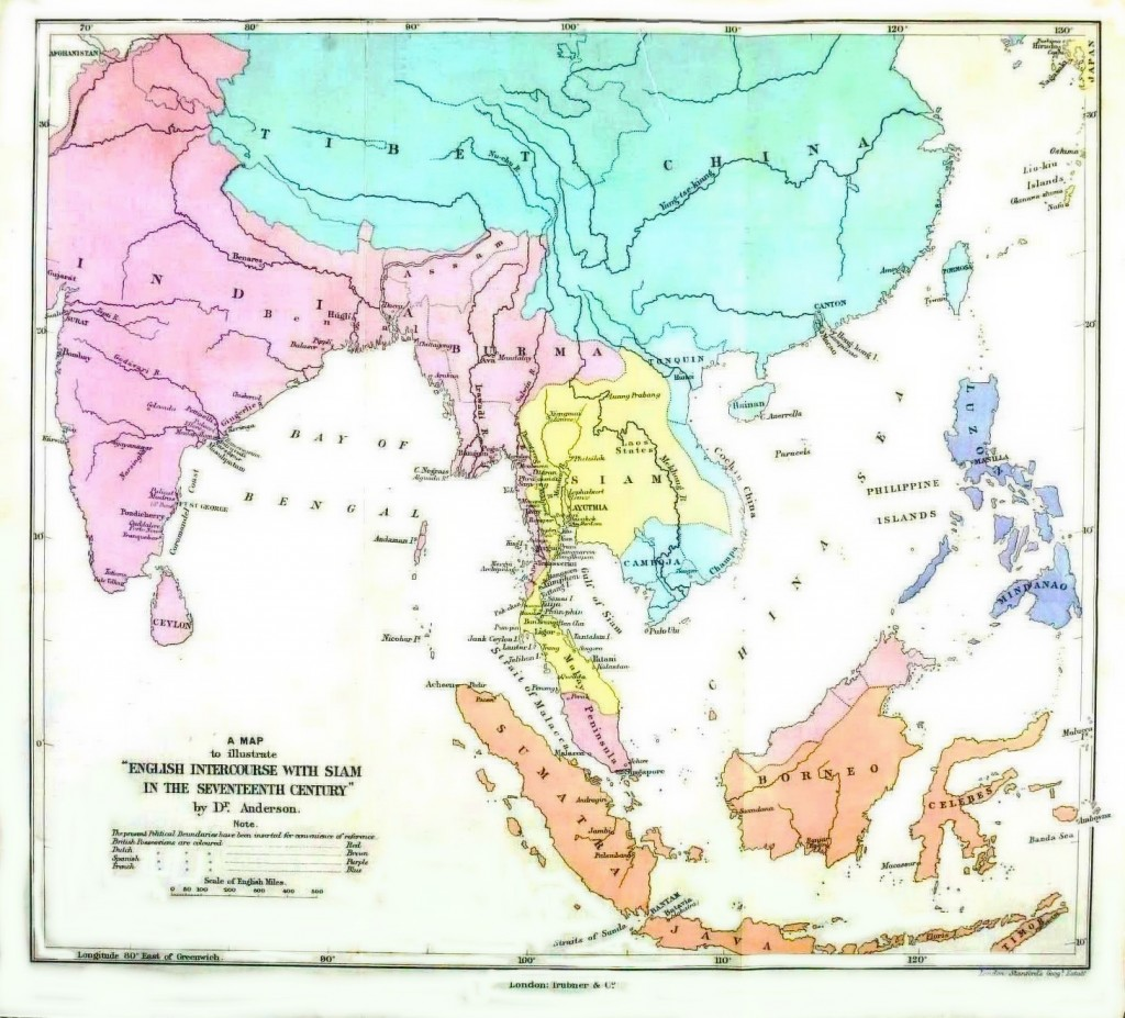 Geopolitical - Map - Asia - British intercourse with Siam