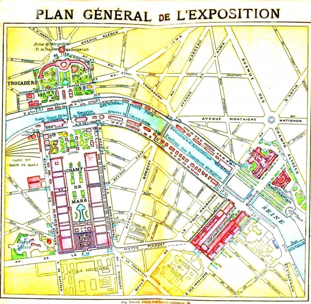 Geopolitical - Map - Europe - Paris Exposition 1900