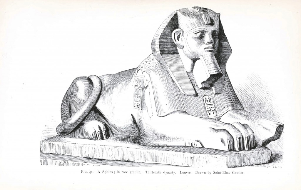 Geopolitical - Object - Middle East - Sphinx, drawing