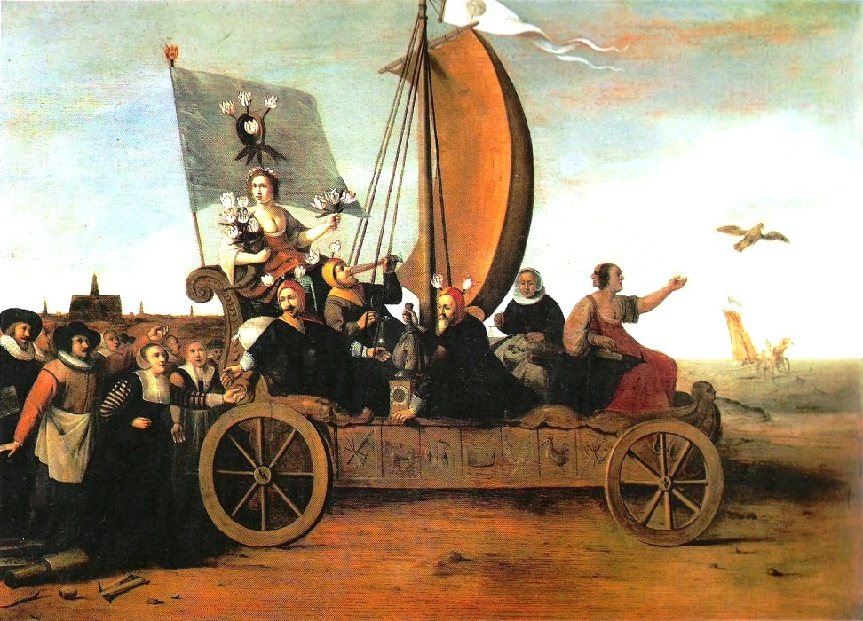 Painting of Tulip Mania, allegory