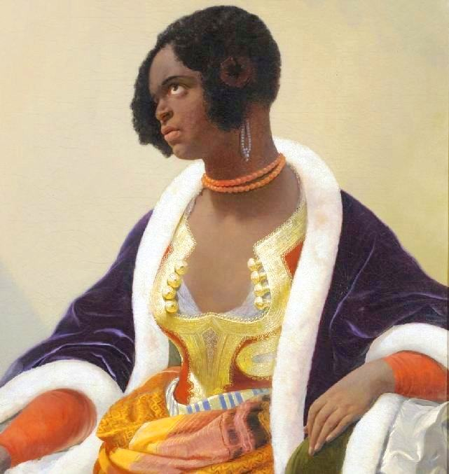 Portrait - Painting - A Nubian Lady