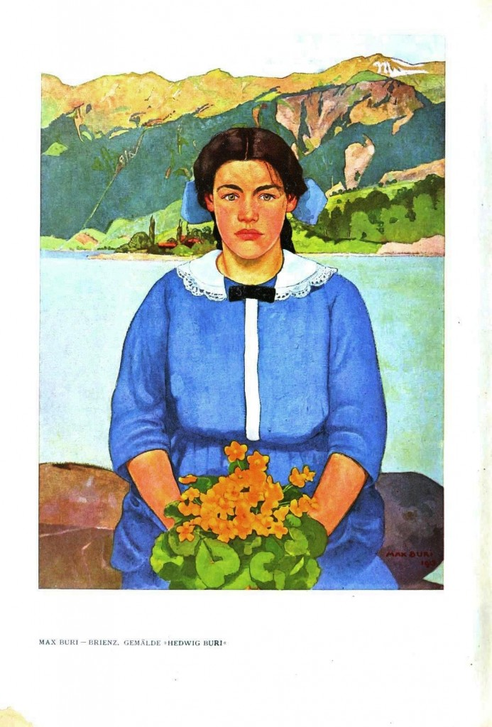 Portrait - Painting - Girl with flowers