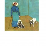 Portrait - Painting - Woman with bulldogs