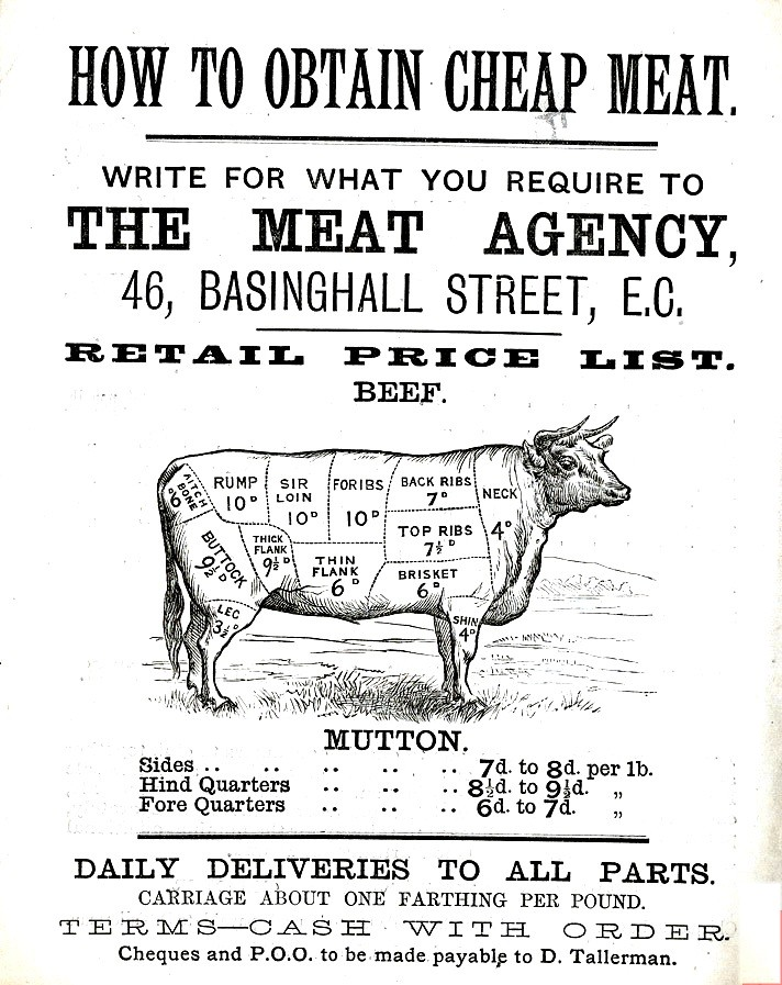 Printed Matter - Advertisement - Cheap meat