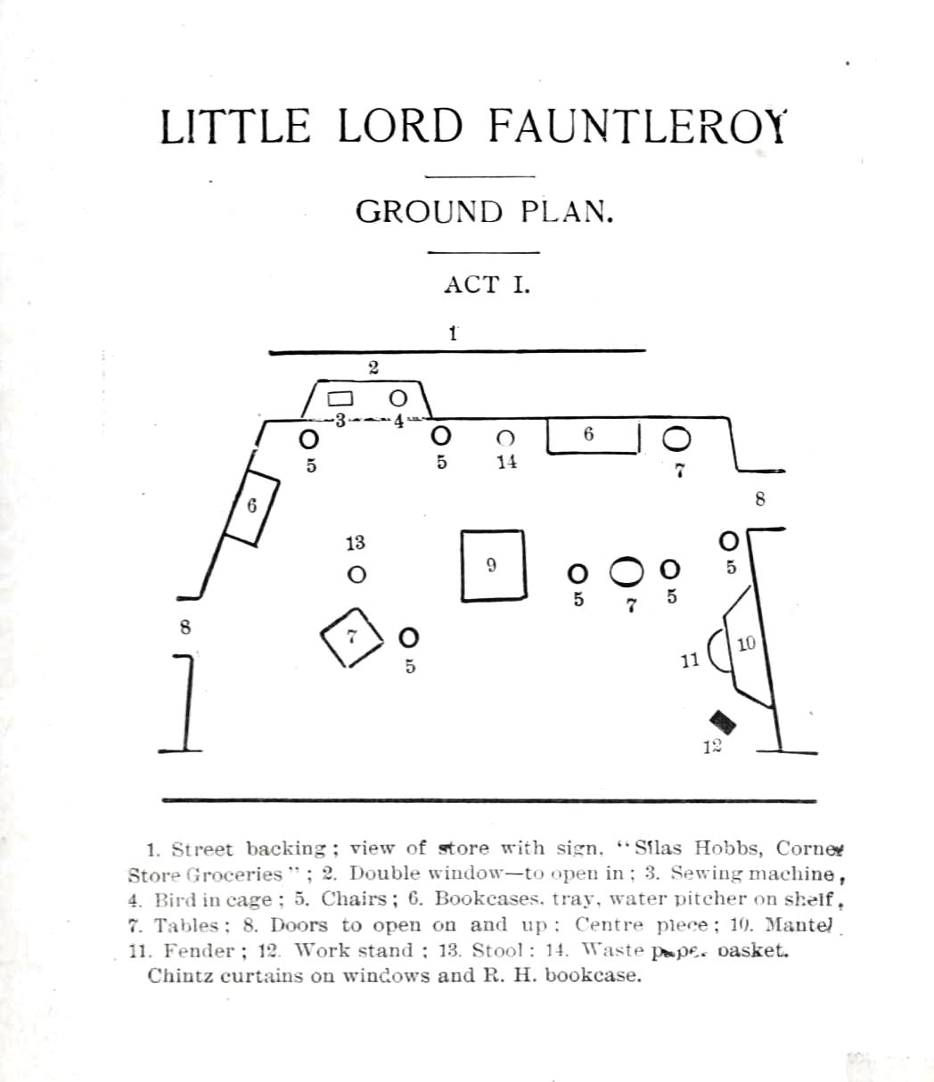Printed Matter Diagram Little Lord Fauntleroy Stage Direction