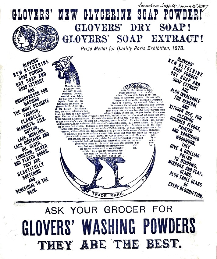 Printed matter - Advertisement - Glovers' Washing Powder
