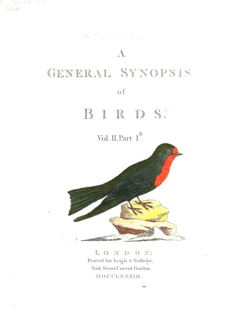 Printed matter - Book Cover - General synopsis of birds 1730