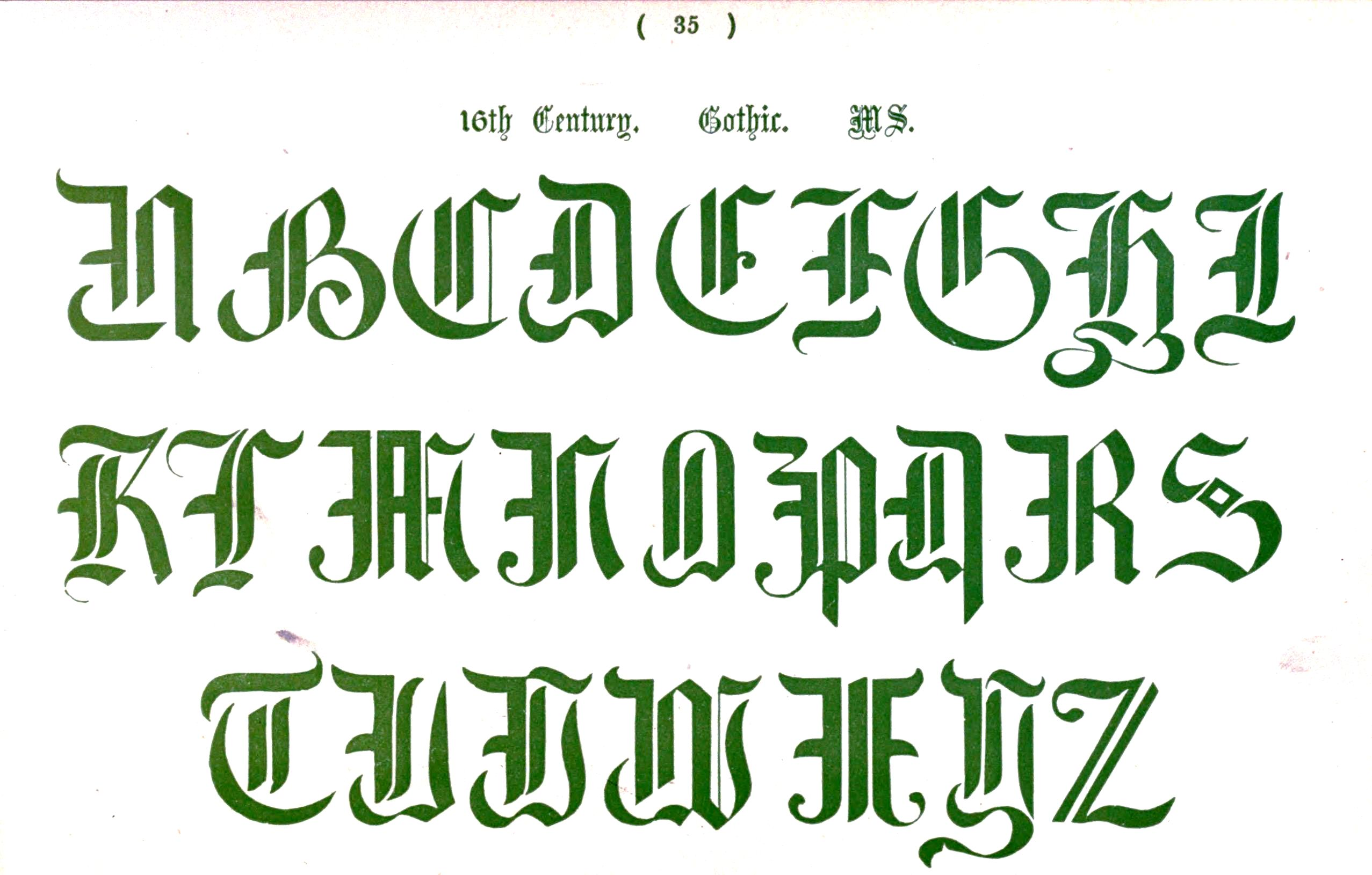 Image Gallery Medieval Typography