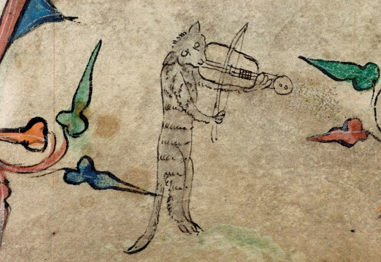 Animal - Animal acting human - Cat and fiddle medieval