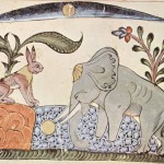 Animal - Animal acting human - Elephant listening to rabbit - Syrischer_Maler_von_1354_001