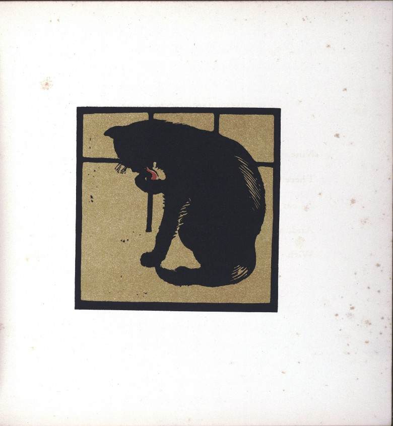 Animal - Cat - Black cat woodcut