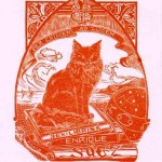 Animal - Cat - Engraving - Bookplate