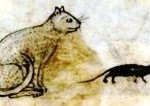 Animal - Cat - Medieval with mouse