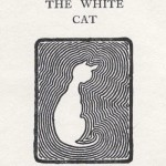Animal - Cat -  White Cat Woodcut