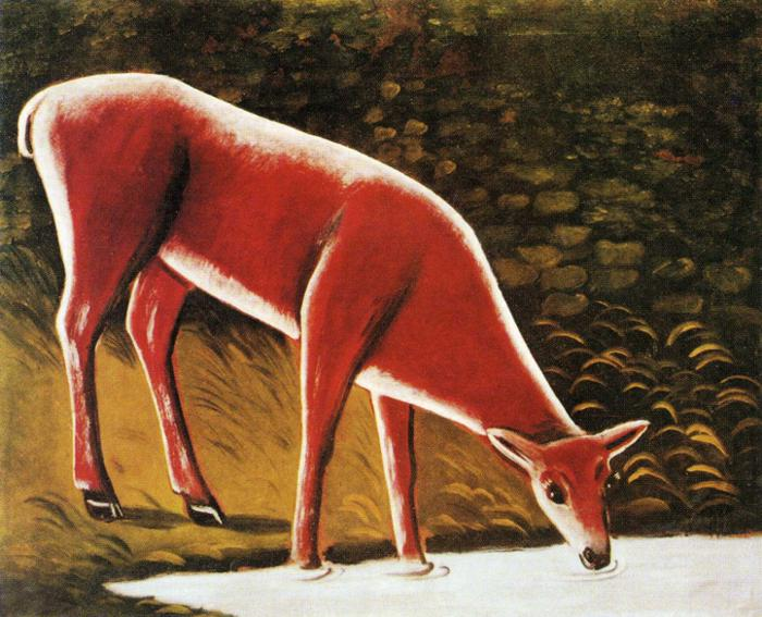 Animal - Deer - Russian painting