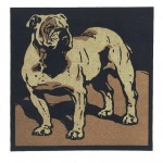 Animal - Dog - Bulldog woodcut