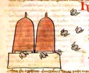 Animal - Insect - Bees - Medieval -  Two bee hives