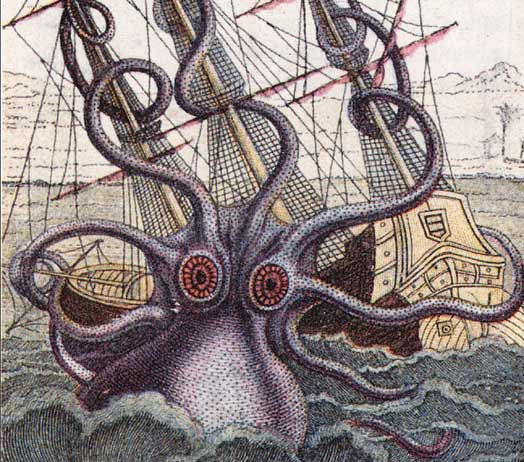 Animal - Octopus - Mythological - Disaster - Shipwreck