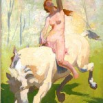 Animal - Range and Farm - Painting - Horse with nude woman