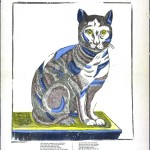 Animal - cat - engraving