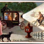 Art - Advertisement - Carriages with liglhts and bicycles
