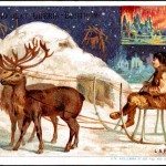 Art - Advertisement - Chocolat Guerin-Boutron - Eskimos with reindeer sled