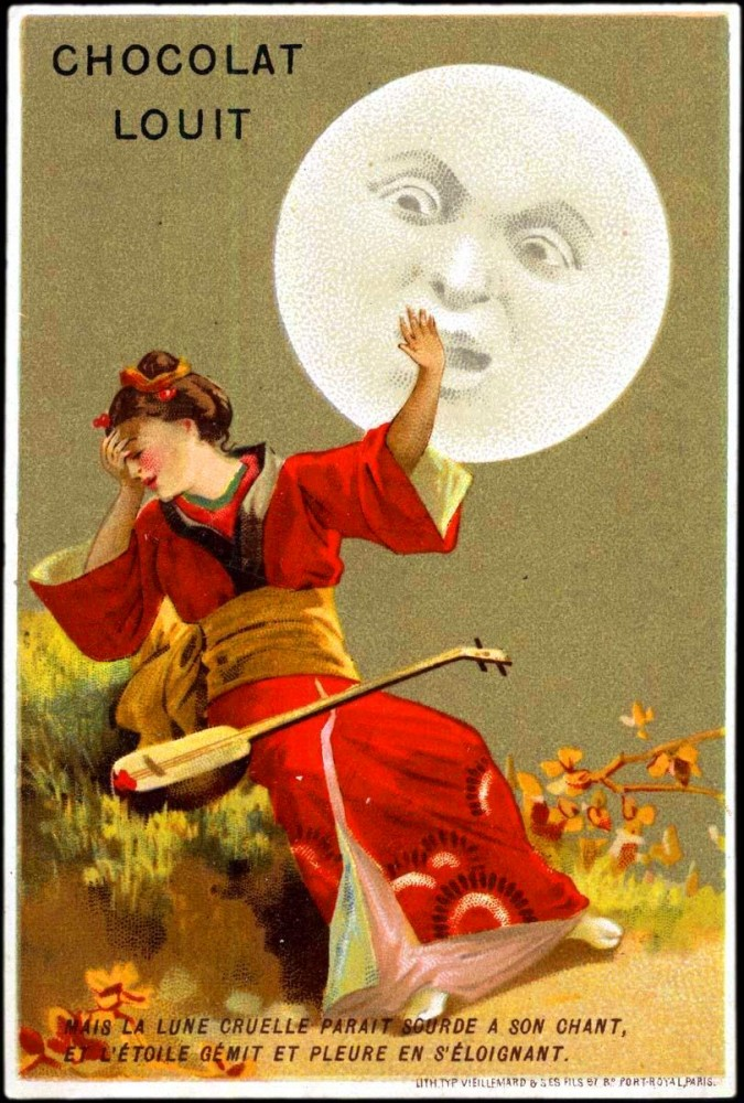 Art - Advertisement - Chocolat Louit - Anthropomorphized moon