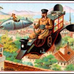 Art - Advertisement - Chocolat Suchard - Flying machines
