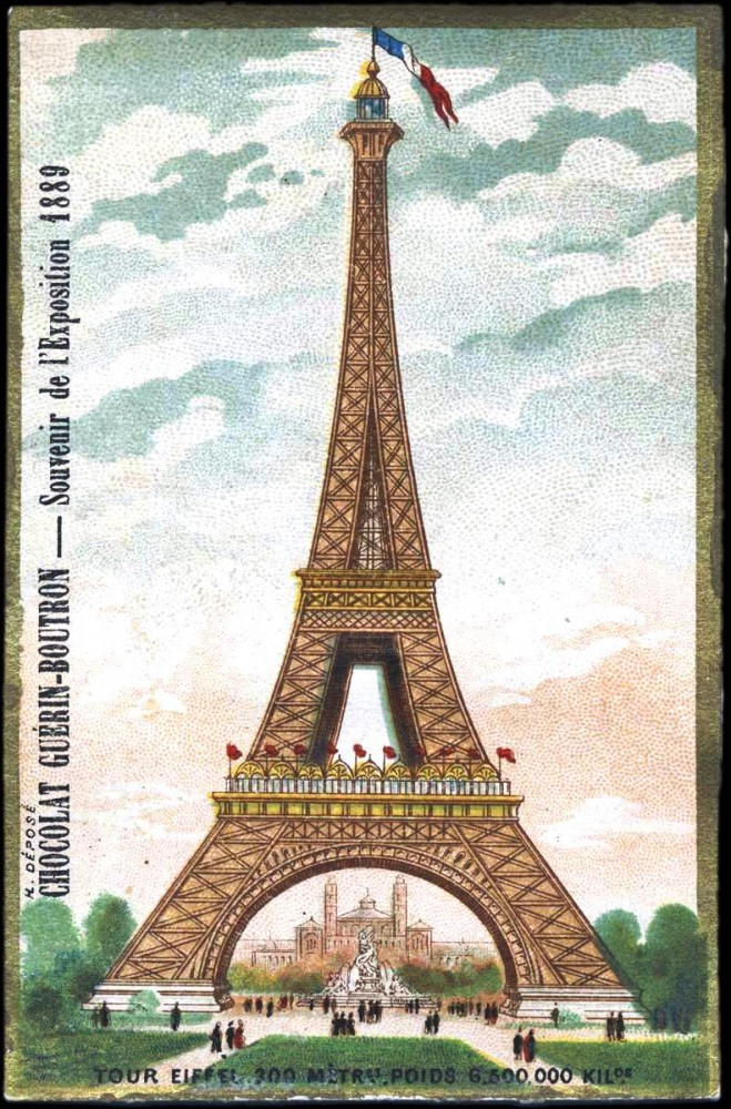 Art - Advertisement - Chocolate Guerin-Boutron - Eiffel tower