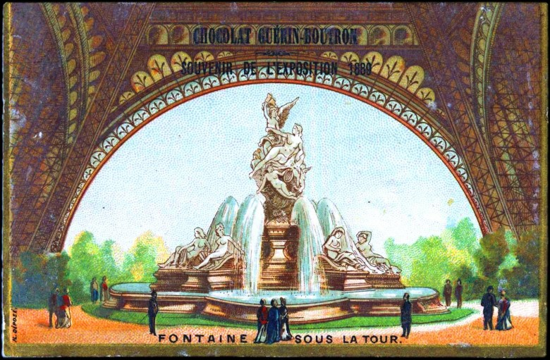 Art - Advertisement - Chocolate Guerin-Boutron - Eiffel tower fountain
