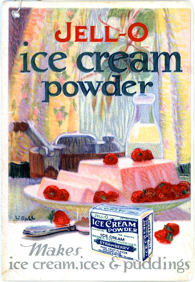Art - Advertisement - Jello - Cookbook - Jello ice cream powder