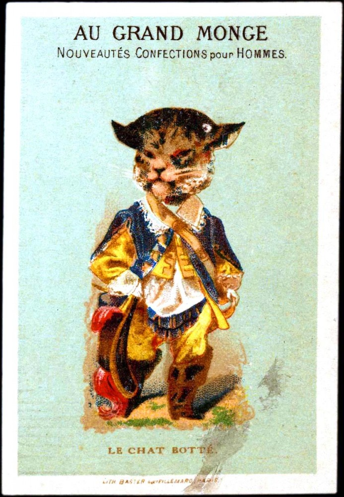 advertisement le chat botte vintage printable at swivelchair media beta