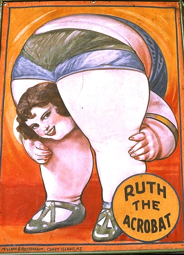 Art - Advertising - Circus - Ruth the Acrobat