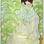 Art - Art Nouveau - Cat, Sitting woman with cat, Bonnard