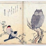Art - Asian - Animal - bird - owl - finches - Japanese - woodcut
