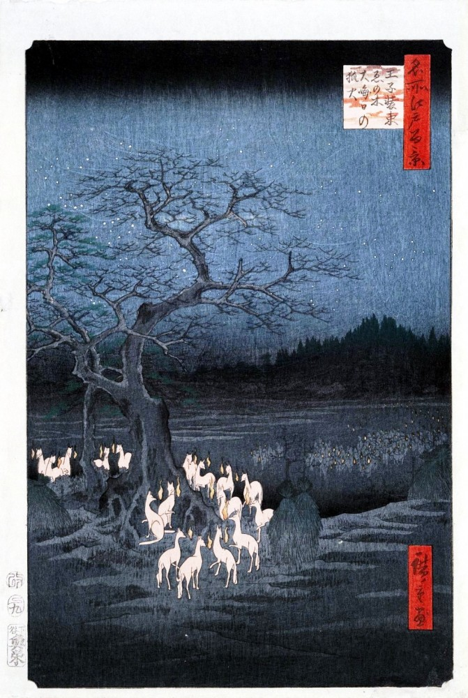 New Year's Eve, Fox Fires by the Nettle Tree at Oji