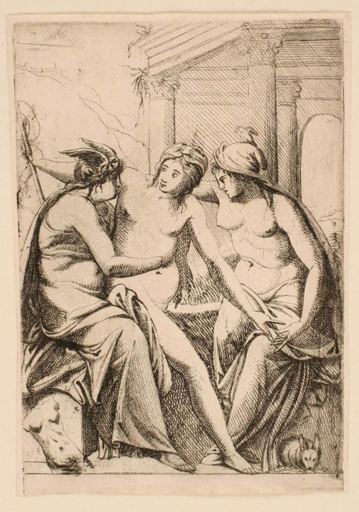 Art - Engraving - Three Goddesses for building