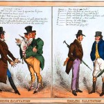 Art - Illustration - Political - French - Satire - French Salutations, English Salutations 1827