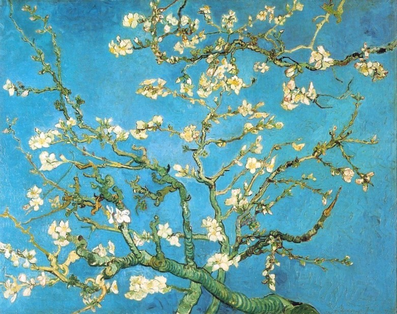 Art - Painting - Almond blossoms