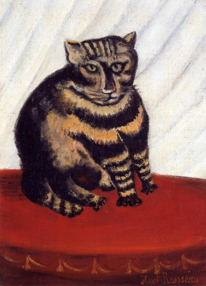 Art - Painting - Animal - Cat - The Tiger Cat, Rousseau