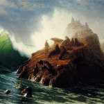 Art - Painting - Bierstadt - Seal Rock