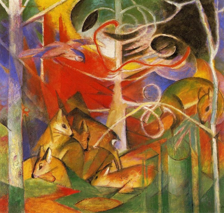 Art - Painting - Fauvist - Deer in the Forest 1913