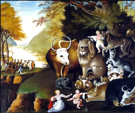 Art - Painting - NGA Edward Hicks, Peaceable Kingdom, c. 1834